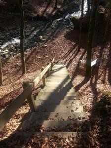 Schody do wodospadu