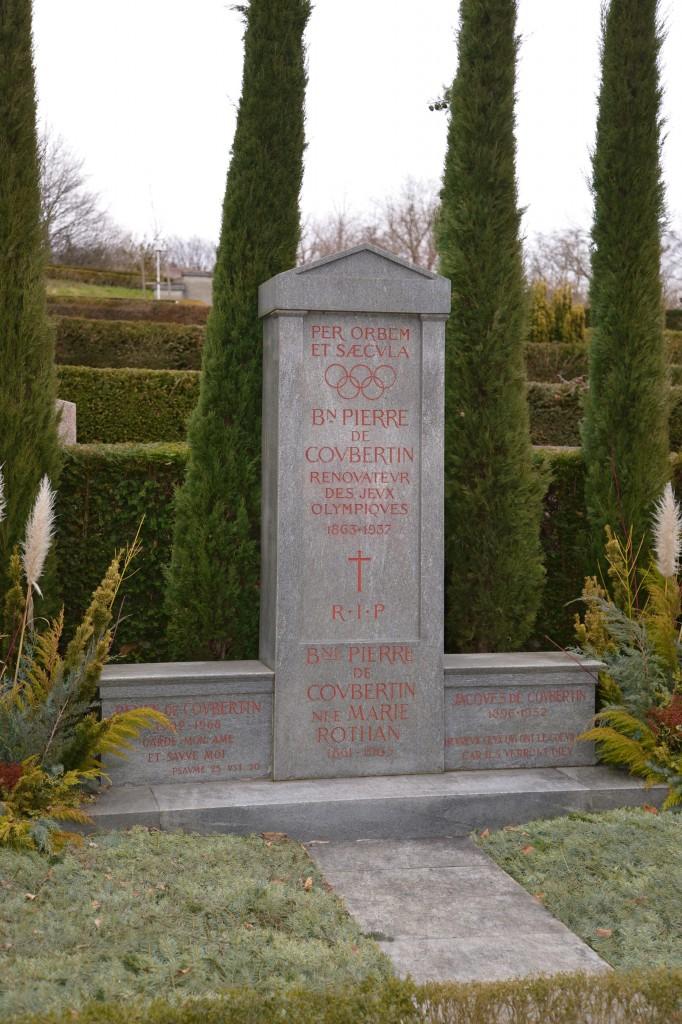 Grave of Baron Pierre de Coubertin