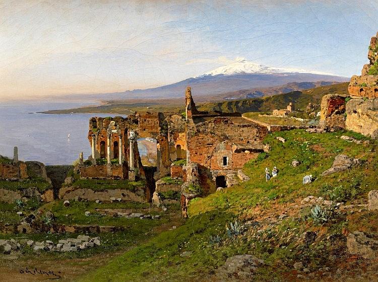 Otto Geleng, Taormina, 1872