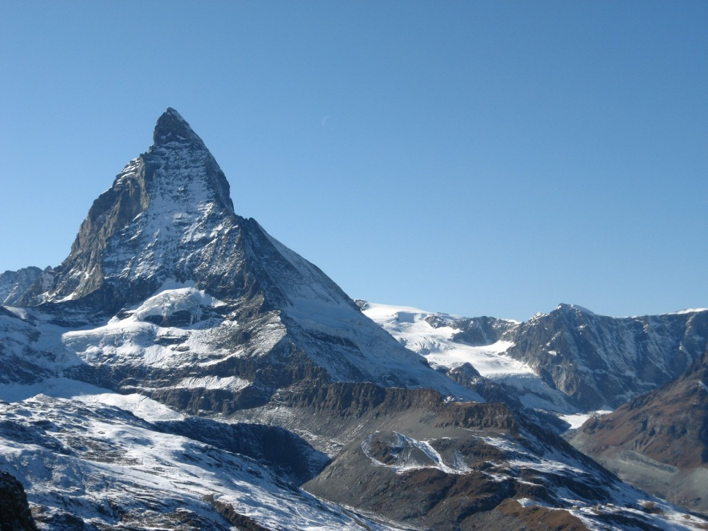 Matterhorn and Hörnli ridge seen from the Gornergrat