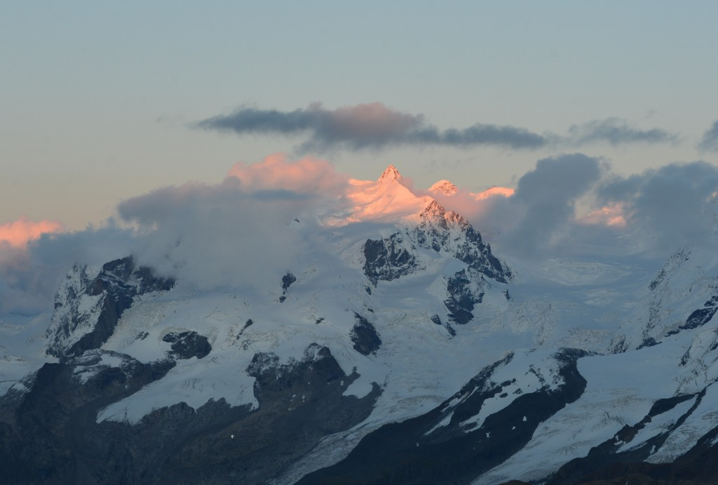 Monte Rosa massif at sunset