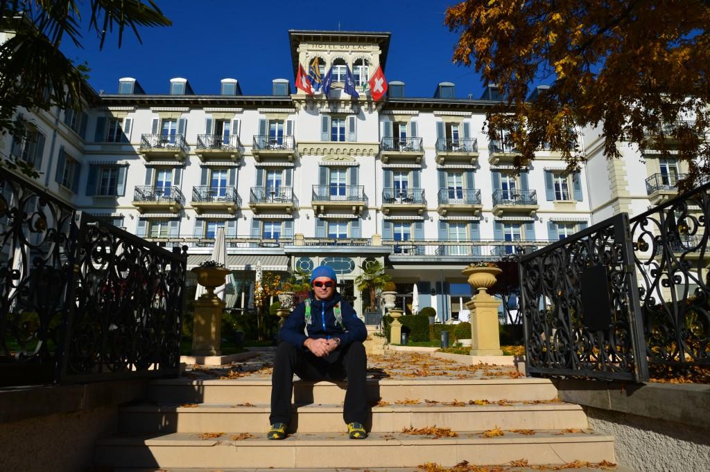 Hotel du Lac od strony jeziora