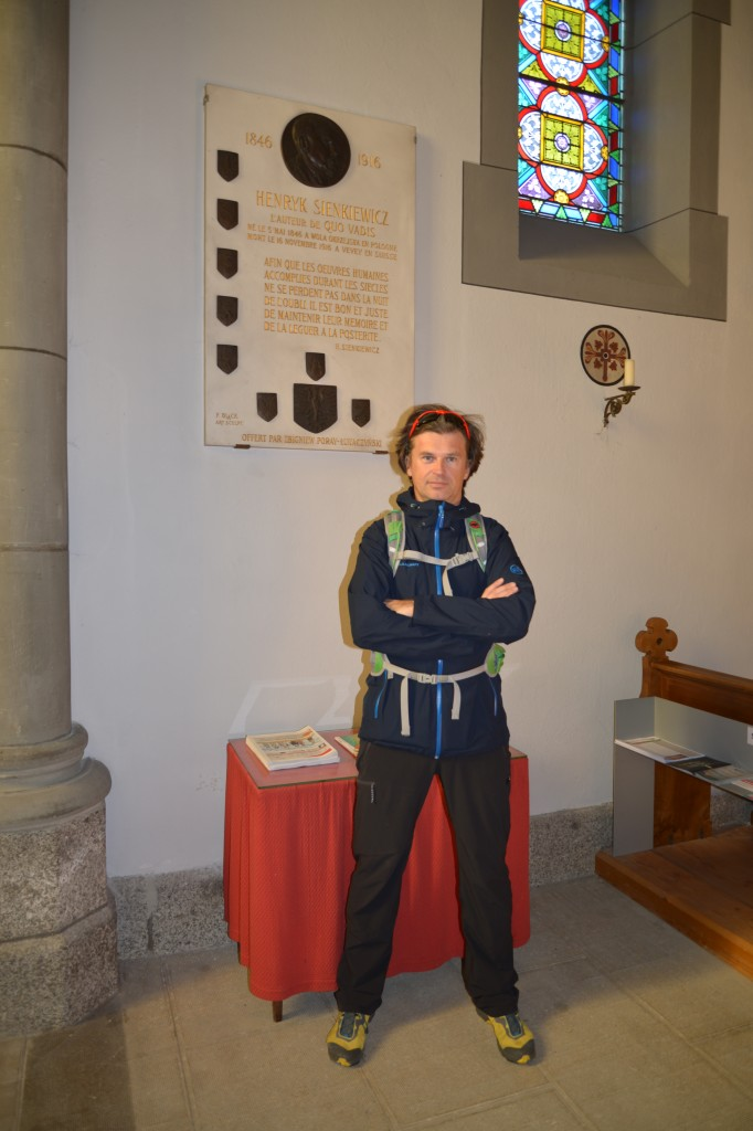 Tablica pamiątkowa w kościele Notre-Dame w Vevey
